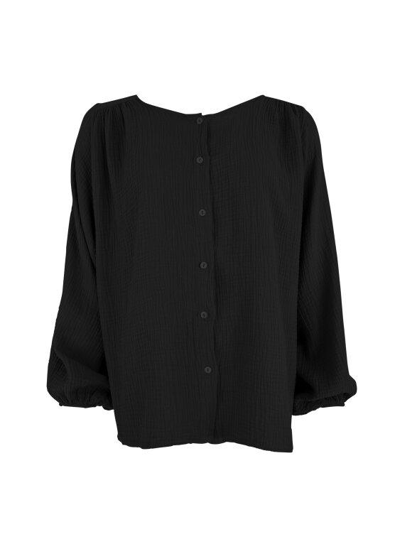 Black Colour - DUNE PUFF SHIRT