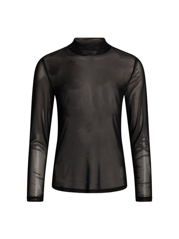 Co`Couture - MESH TURTLENECK BLOUSE
