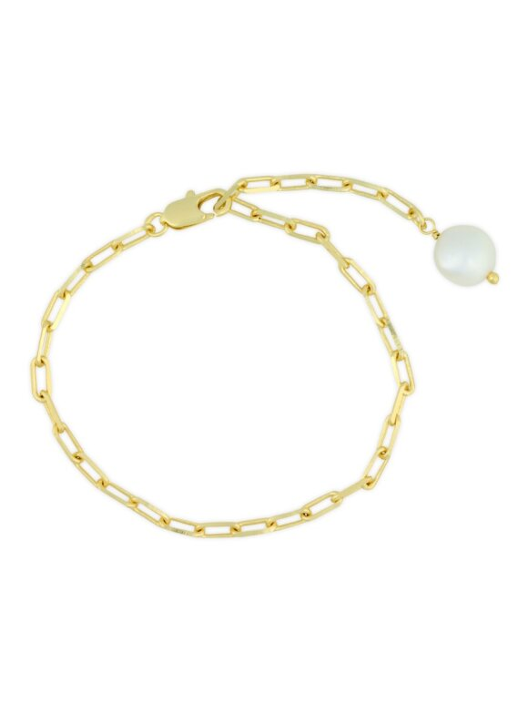 PURE BY NAT - CHAIN BRACELET W. FRESHWATER P
