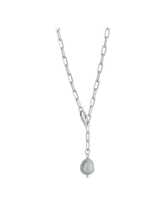 PURE BY NAT - CHAIN NECKLACE W. PEARL