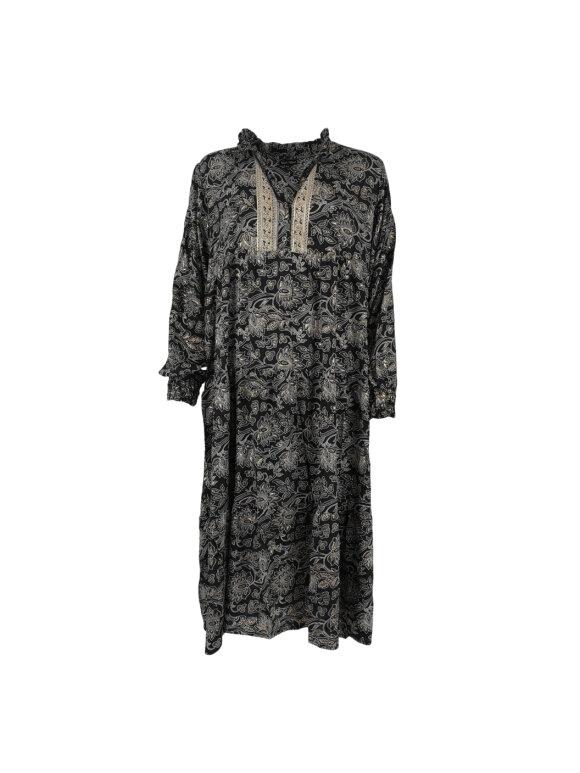 Black Colour - LUNA GRACE LONG BOHO DRESS