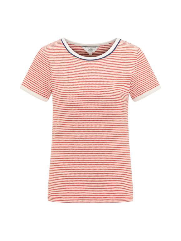 LEE - STRIPED RIBBED TEE