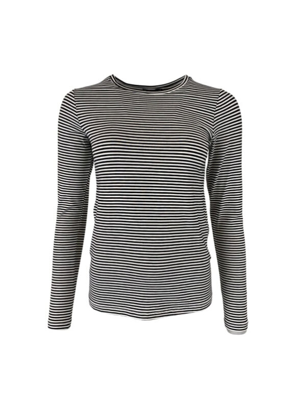 Black Colour - PENNY L/S STRIPED T-SHIRT
