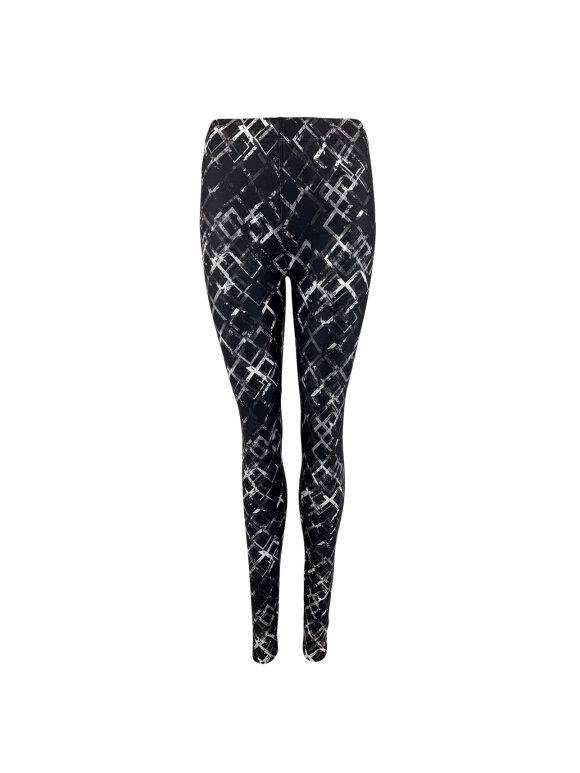 Black Colour - SOPH SOFT GRAPHIC LEGGINGS
